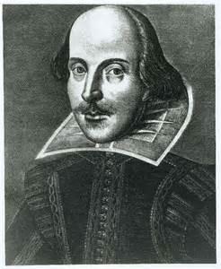 William Shakespeare según el folio de la edición de sus obras de teatro en 1623