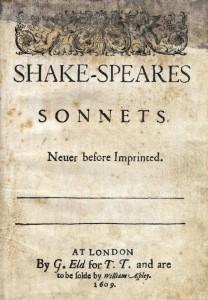 Portada de la primera edición de los Sonetos de William Shakespeare, de 1609.