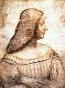 Retrato de Isabel de Este - Leonardo da Vinci