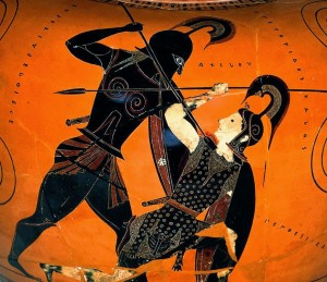 Aquiles luchando con Pentesilea