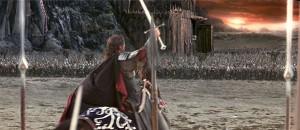 Aragorn ante la puerta negra