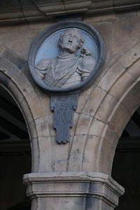 Bernardo del Carpio en uno de los medallones de la Plaza Mayor de Salamanca